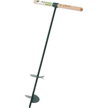 Tarière pour tarière acier GEOLIA, manche bois L.60 cm