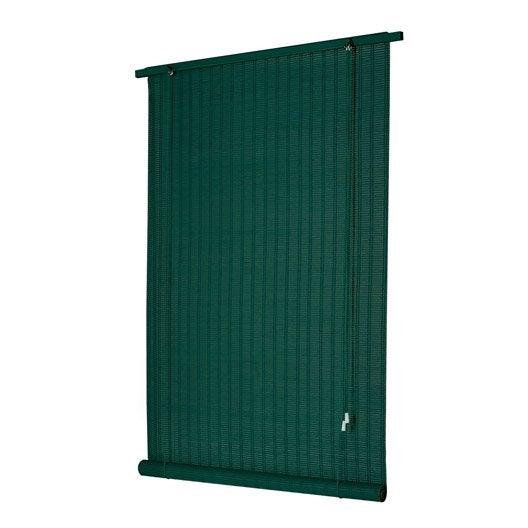 store enrouleur tamisant bois tissé, vert anglais, 80/90 x 180 cm
