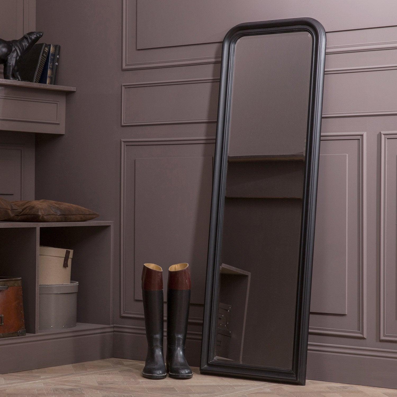 Miroir voltaire noir x cm leroy merlin - Miroir 140 cm ...