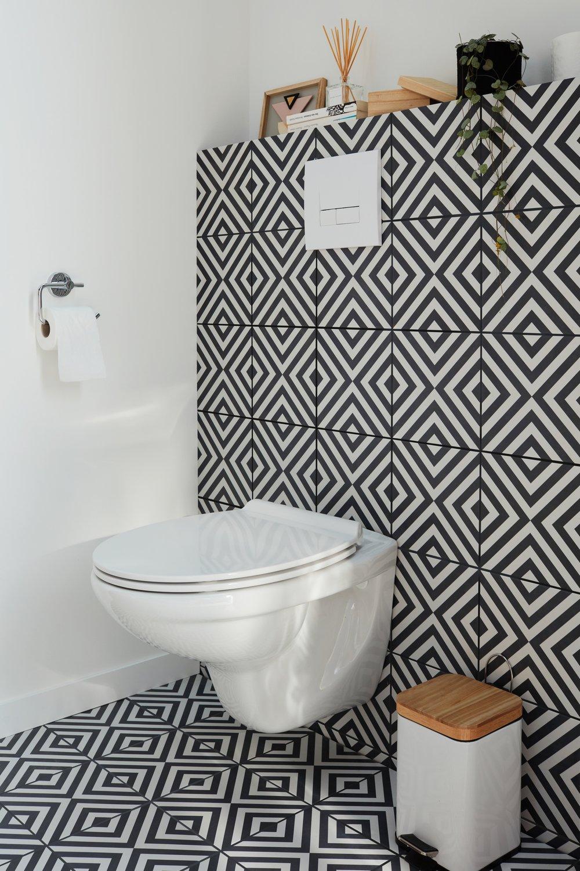 Toilette Blanc Et Gris un wc suspendu à géométrie variable   leroy merlin