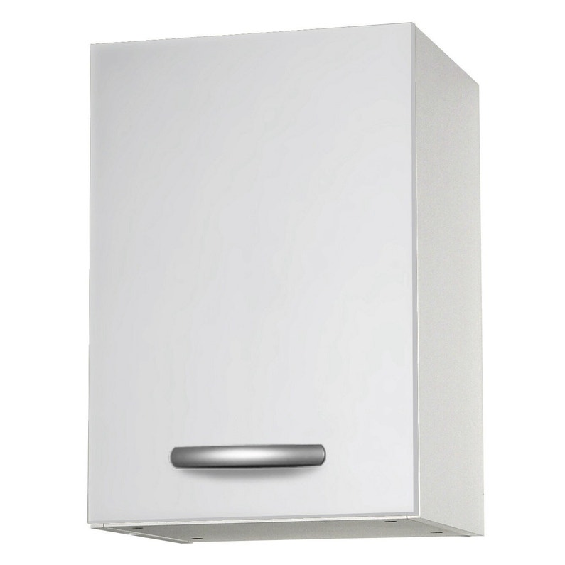 Meuble de cuisine haut 1 porte, blanc, h57.9x l40x p35.2cm | Leroy ...