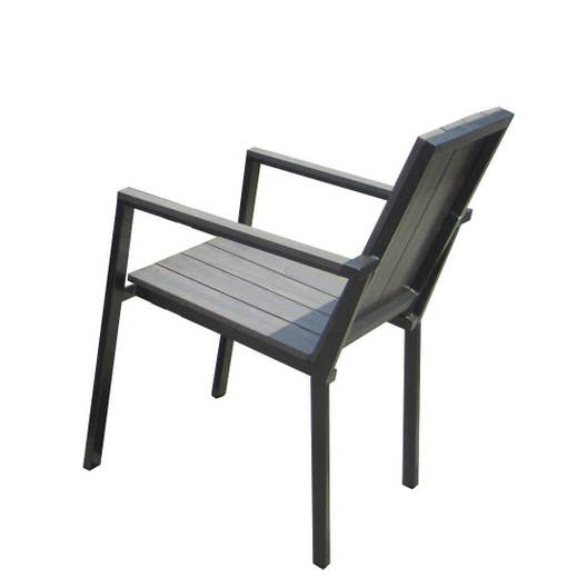 fauteuil de jardin en aluminium imitation bois leroy merlin. Black Bedroom Furniture Sets. Home Design Ideas
