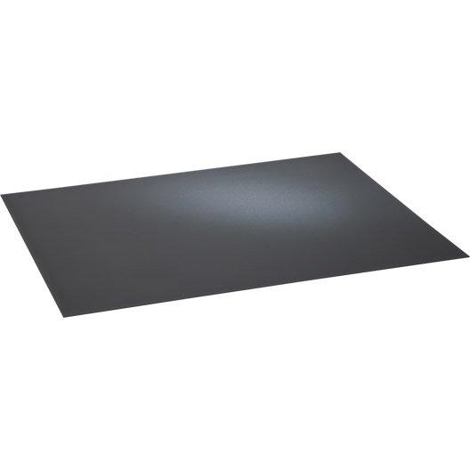 Plaque de protection sol acier noir sabl equation - Plaque acier protection poele ...