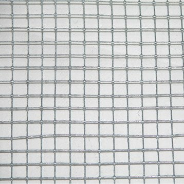 Grillage pour animaux soudé gris, H.1 x L.3 m, maille H.6 x l.6.4 mm