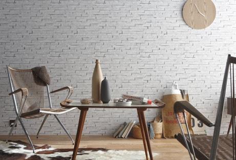 Un mur en briquettes blanches pour un esprit scandinave