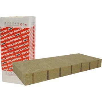 Laine de roche ROCKWOOL avec bord flexible 1.35 x 0.6 m, Ep. 60mm, R=1.75