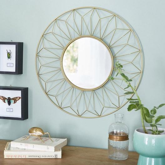 miroir sofi or x cm leroy merlin. Black Bedroom Furniture Sets. Home Design Ideas