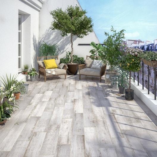 carrelage sol blanc effet bois paillotte x cm. Black Bedroom Furniture Sets. Home Design Ideas