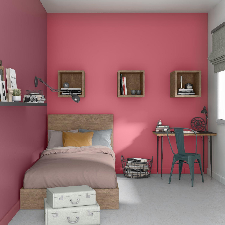 Rouge Dans Une Chambre une chambre d'ados rouge au style industriel   leroy merlin