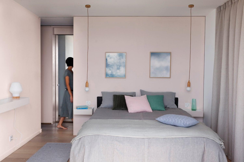 Une chambre rose au style contemporain | Leroy Merlin
