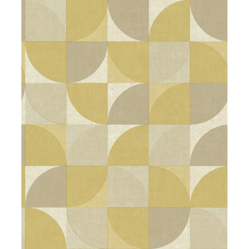 Papier Peint Vinyle Rosalie Jaune Moutarde Leroy Merlin