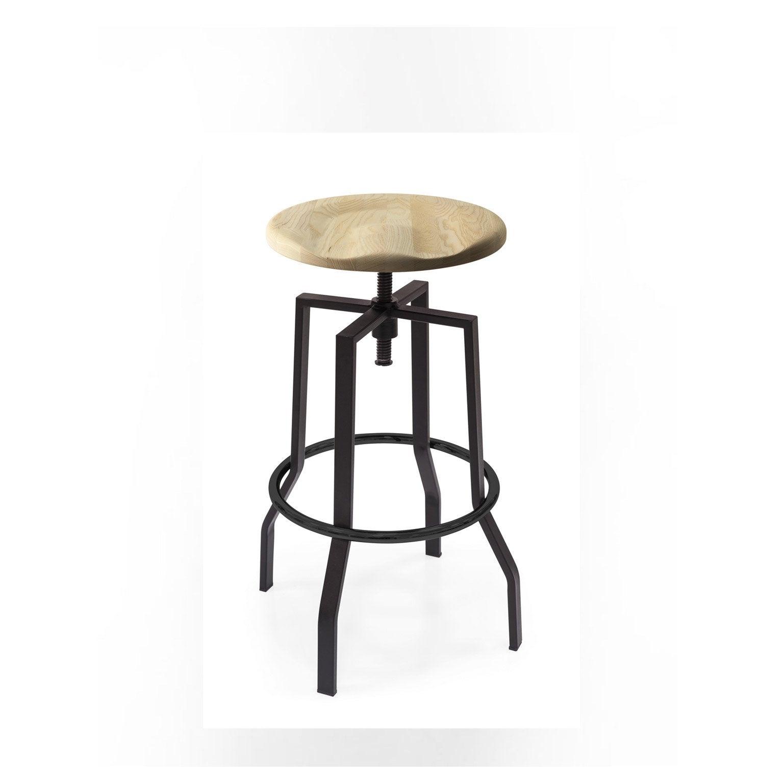 Tabouret de bar, assise chêne naturel, LUISINA gaby