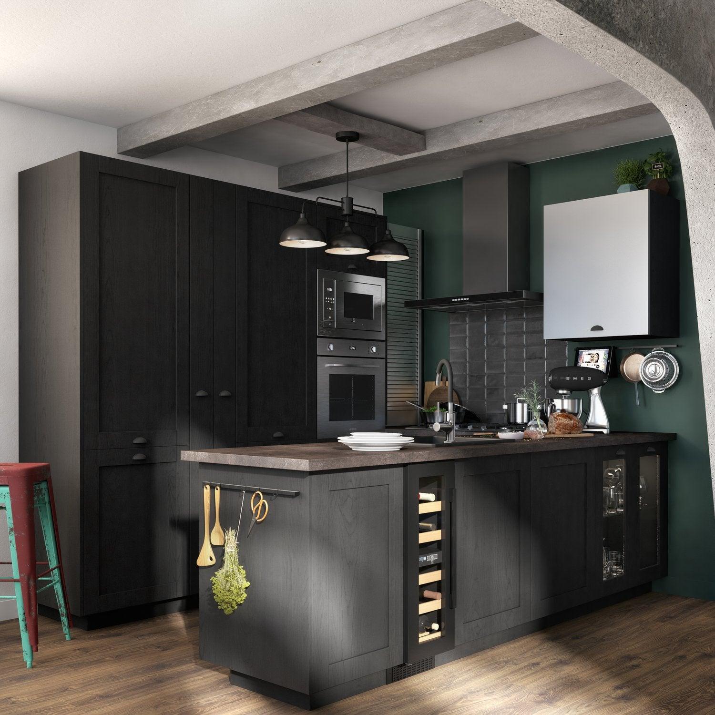 Cuisine Noire Au Style Industriel Leroy Merlin