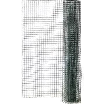 Grillage pour animaux soudé vert, H.0.5 x L.3 m, maille H.19 x l.19 mm