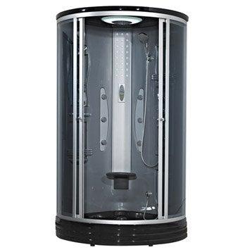Cabine de douche Woman hydromassante thermostatique 1/4 de cercle 90x90 cm