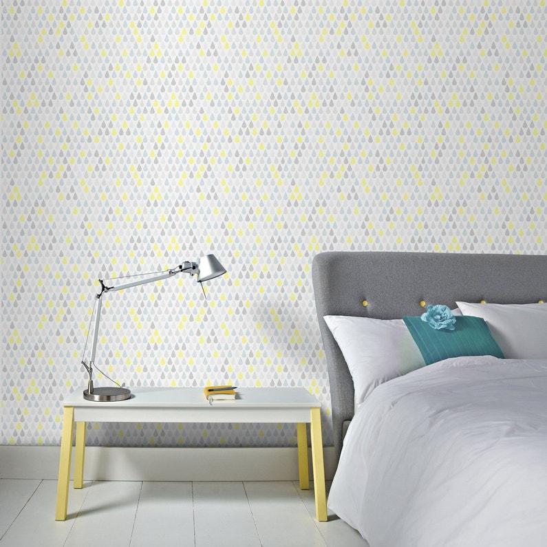 Donner un style scandinave à la chambre avec le papier peint goutte