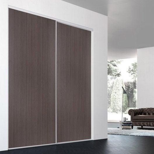 porte de placard coulissante sur mesure iliko classic de 100 1 120 cm leroy merlin. Black Bedroom Furniture Sets. Home Design Ideas
