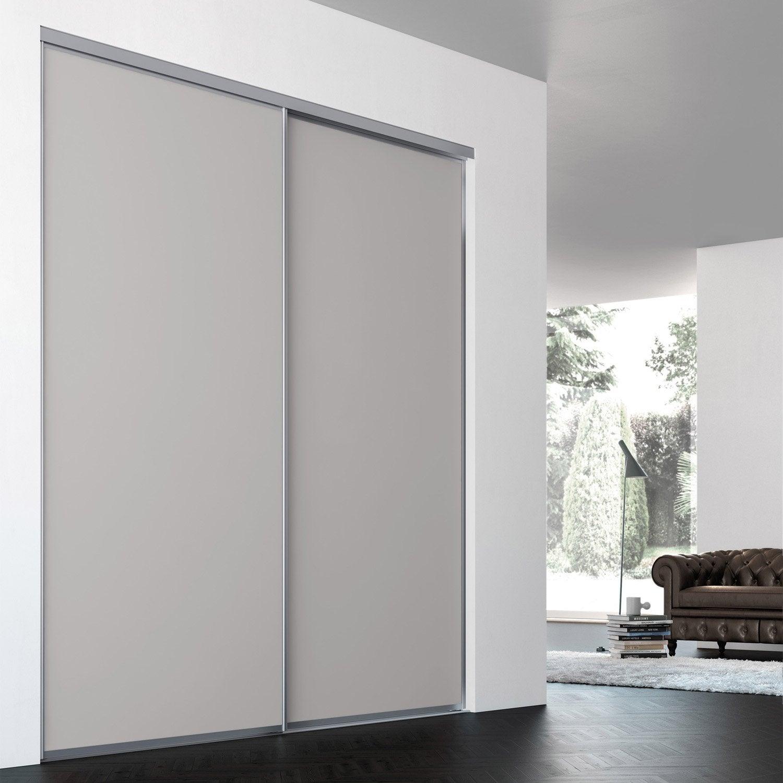Porte De Placard Coulissante Sur Mesure ILIKO Classic De 100.1 à 120 Cm Idees Impressionnantes