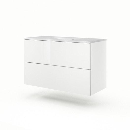 meuble vasque 106 cm blanc neo line leroy merlin. Black Bedroom Furniture Sets. Home Design Ideas