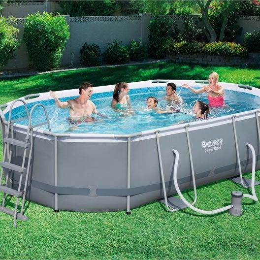 Piscine piscine hors sol bois gonflable tubulaire for Piscine hors sol 4 x 2 5