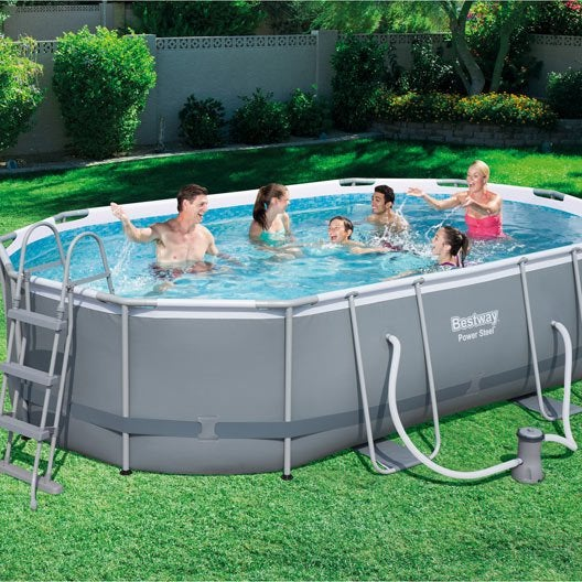 Piscine piscine hors sol bois gonflable tubulaire for Piscine hors sol tubulaire amazon