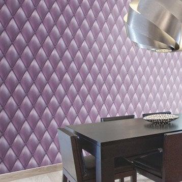 Papier peint intissé Capiton froisse violet