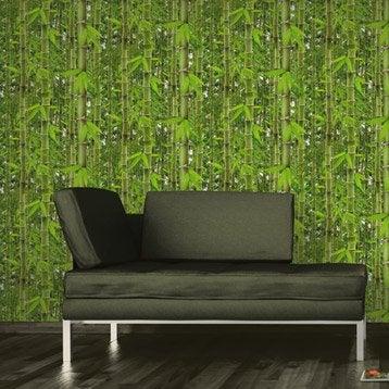 Papier peint papier Bambouseraie vert