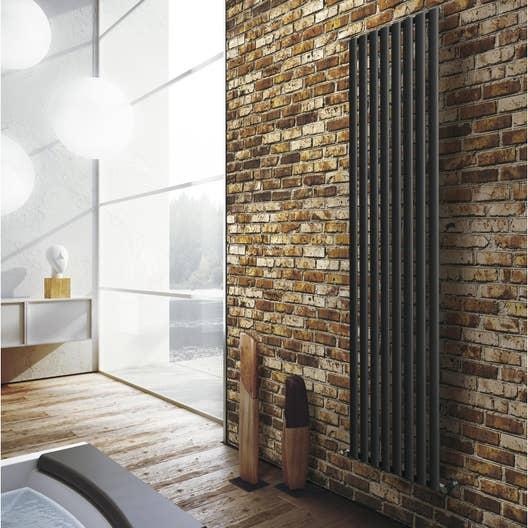 radiateur chauffage central ellis anthracite cm 926 w leroy merlin. Black Bedroom Furniture Sets. Home Design Ideas