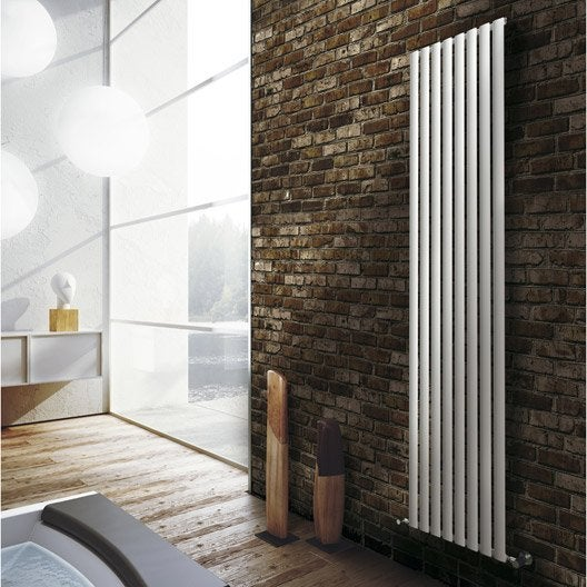 radiateur chauffage central ellis blanc mat l cm w with radiateur mural leroy merlin. Black Bedroom Furniture Sets. Home Design Ideas