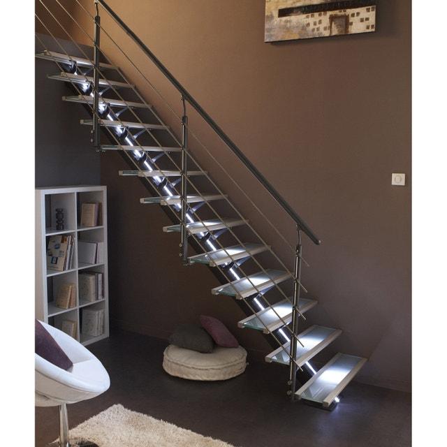 un escalier en verre lumineux leroy merlin. Black Bedroom Furniture Sets. Home Design Ideas