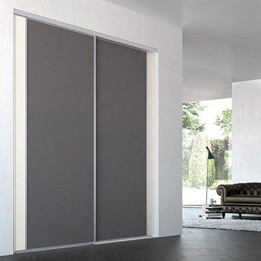 Porte de placard coulissante sur mesure iliko inspir de for Porte placard largeur 60