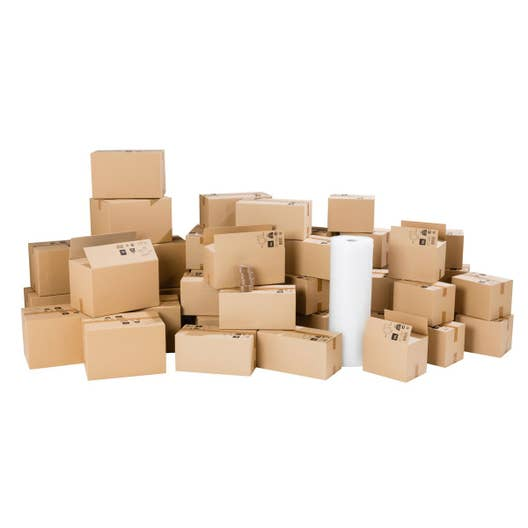 kit d m nagement pour logement 130m cartons film bulle. Black Bedroom Furniture Sets. Home Design Ideas