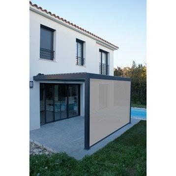 Store polyester Orient gris x L.370 cm
