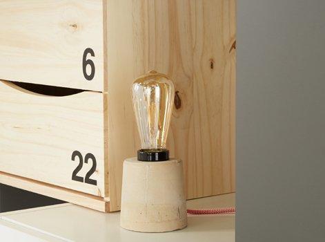 Diy Fabriquer Une Lampe Beton Leroy Merlin