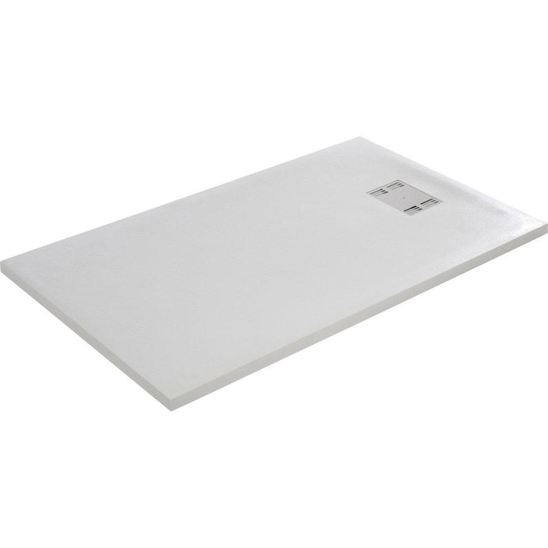 Receveur De Douche Rectangulaire L 140 X L 90 Cm Resine Blanc Slate