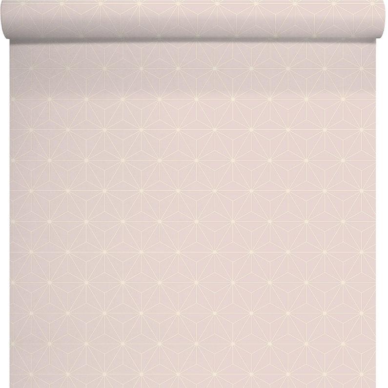 Papier Peint Intisse Etoile Paillette Rose Leroy Merlin