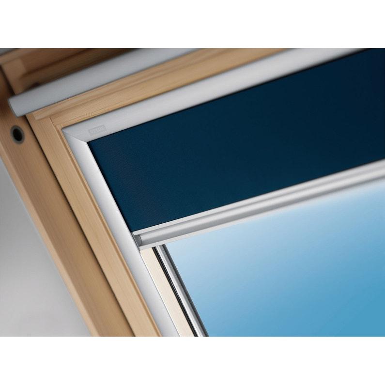 Store fenêtre de toit occultant bleu VELUX Dkl m04   Leroy Merlin