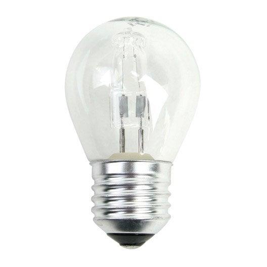 ampoule sph rique halog ne 46w 702lm quiv 60w e27 2800k lexman leroy merlin. Black Bedroom Furniture Sets. Home Design Ideas