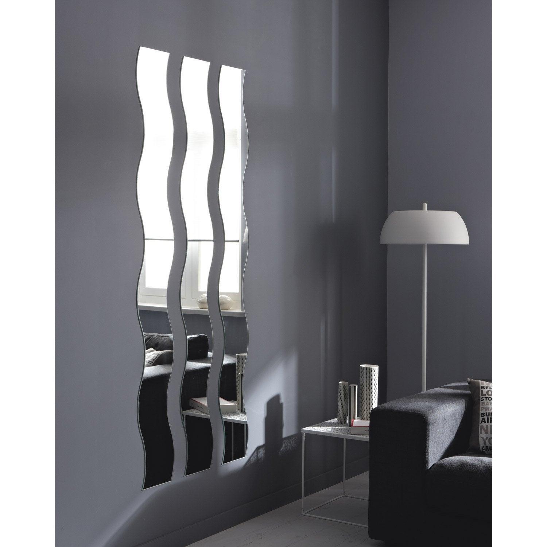 charmant Miroir non lumineux découpé vague l.20 x L.160.5 cm Vague