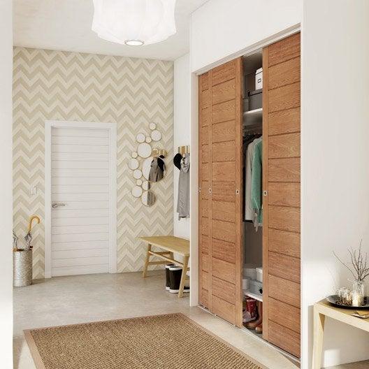 porte de placard coulissante spaceo l.66 x h.250 cm | leroy merlin - Installer Des Portes De Placard Coulissantes