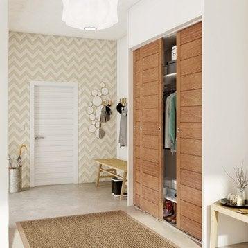 Porte de placard standard coulissante et pliante leroy - Porte de placard a peindre ...