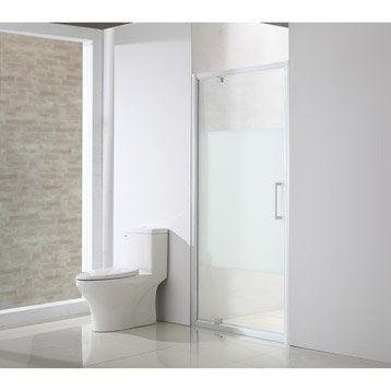 Porte de douche pivotante 100 cm, sérigraphié, Quad
