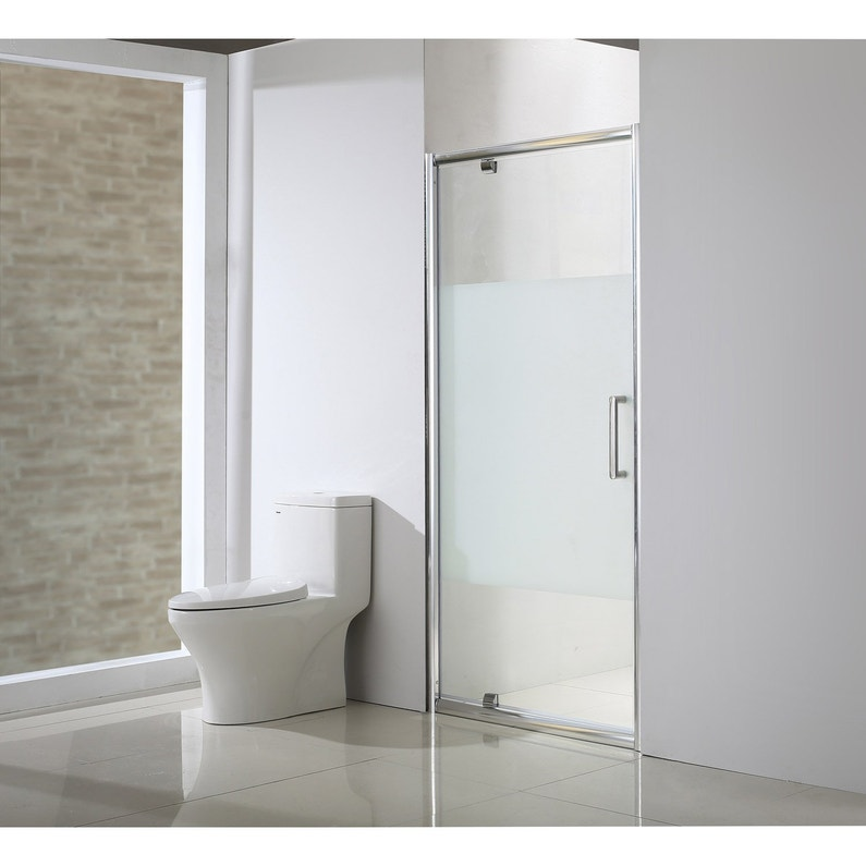 Porte de douche pivotante 90 cm, sérigraphié, Quad   Leroy Merlin 99e24b09776