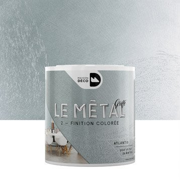 Enduit décoratif, Le métal griffé MAISON DECO, atlantis, 0.5 l