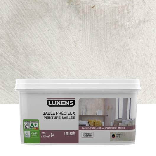 Peinture à effet, Sable précieux LUXENS, gris galet 6, 2 l   Leroy ...