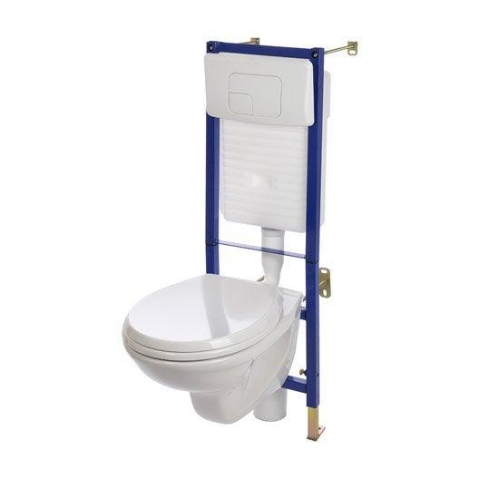 pack wc suspendu bti mur nerea 2 - Wc Suspendu Avec Lave Main Integre Leroy Merlin