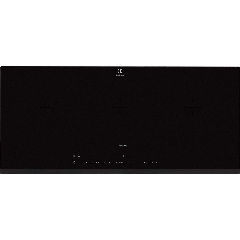 plaque induction 3 foyers noir electrolux ehl9530fok leroy merlin. Black Bedroom Furniture Sets. Home Design Ideas