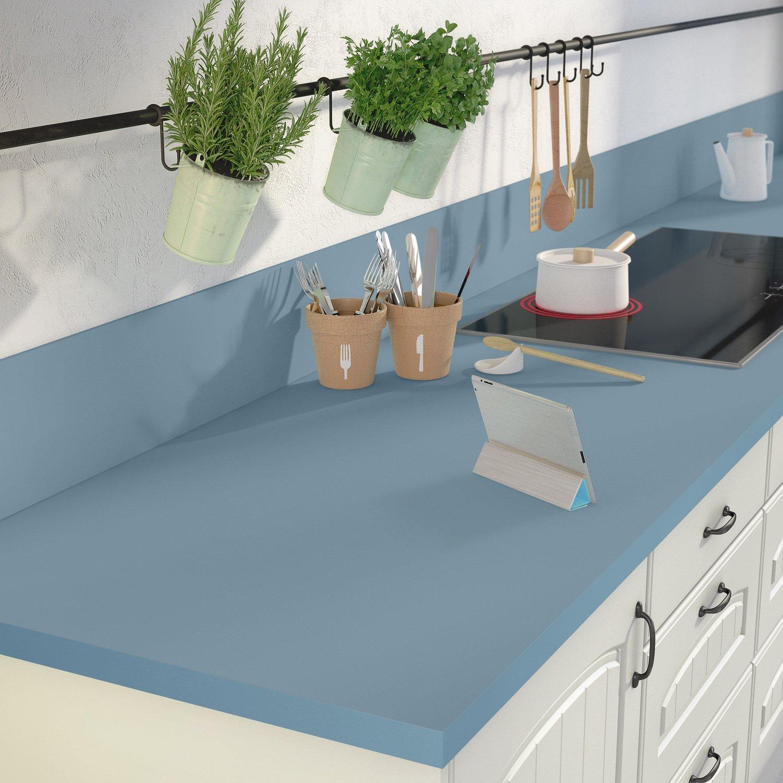 des tons bleus pour votre plan de travail de cuisine leroy merlin. Black Bedroom Furniture Sets. Home Design Ideas