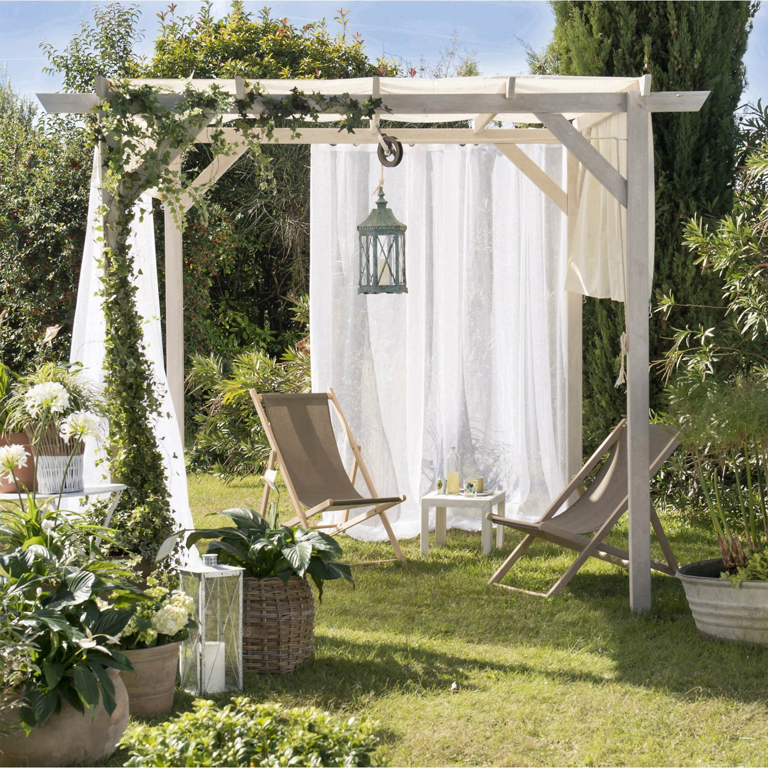pergola autoportante glycine bois naturel 9 m leroy. Black Bedroom Furniture Sets. Home Design Ideas