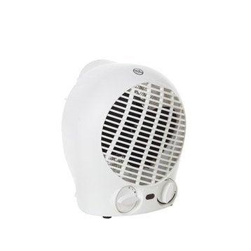 Radiateur soufflant électrique EQUATION blanc Flag 3 2000 W